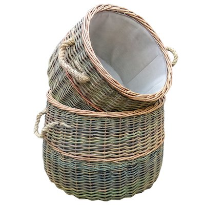 Calfire Country Log Baskets - Set of 2