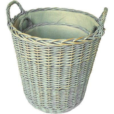 Calfire Provence Log Baskets - Set of 2
