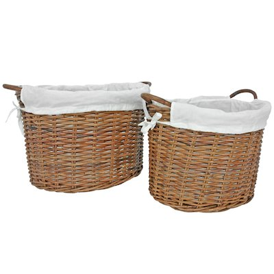 Manor Savoy Log Baskets - Set of 2