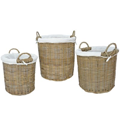 Manor Langham Log Baskets - Set of 3