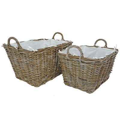 Manor Grosvenor Log Baskets - Set of 2