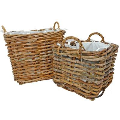 Manor Dorchester Log Baskets - Set of 2