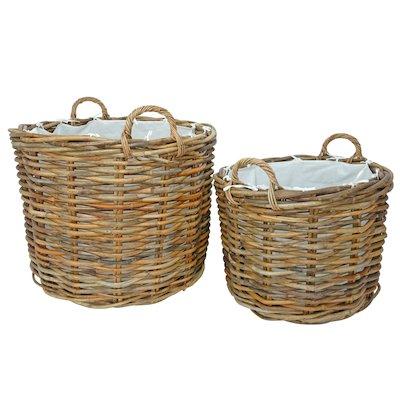 Manor Ritz Log Baskets - Set of 2
