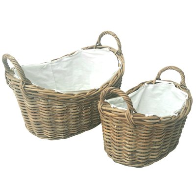 Manor Soho Log Baskets - Set of 2