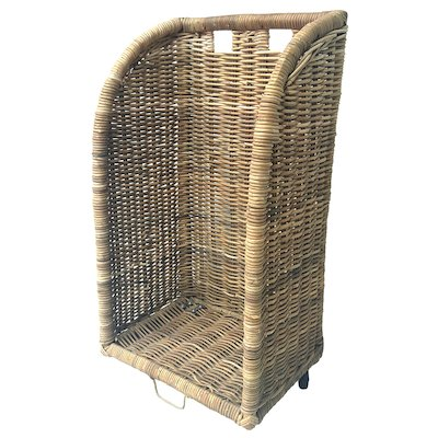 Manor Haymarket Log Basket - With Wheels
