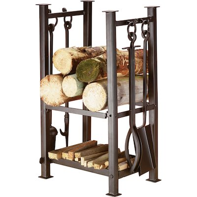 Calfire Felton Log Holder - With Fire Tools