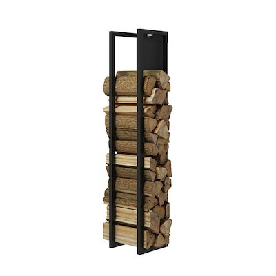 Rais Woodwall Closed Short Wall Mounted Log Holder
