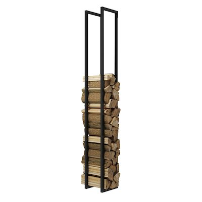 Rais Woodwall Open Tall Wall Mounted Log Holder