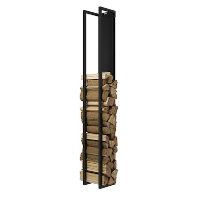 Rais Woodwall Closed Tall Wall Mounted Log Holder