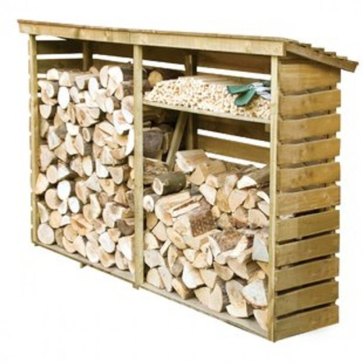 Rowlinson Large Outdoor Log Store - Wood