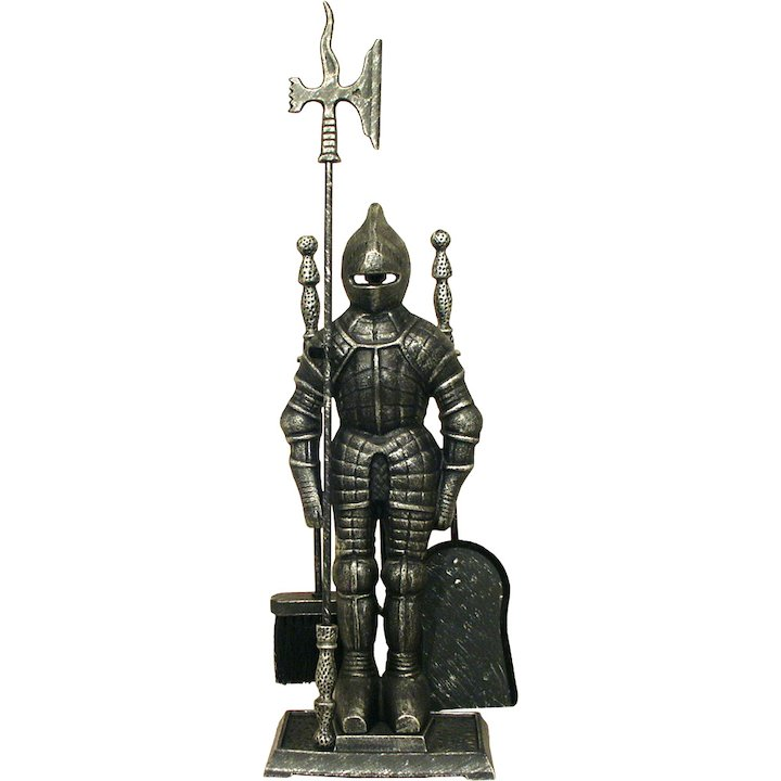 Calfire Knight Fire Tool Companion Set - Pewter