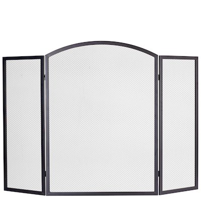Calfire 3 Fold Arched Large Fire Screen