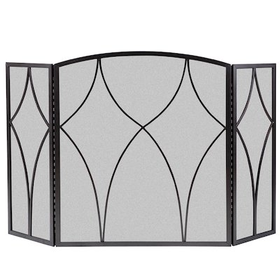 Calfire 3 Fold Diamond Large Fire Screen