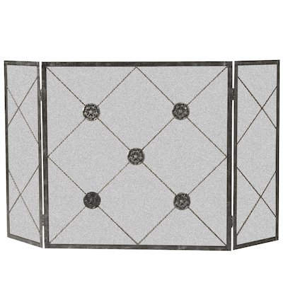 Calfire 3 Fold Medallion Large Fire Screen