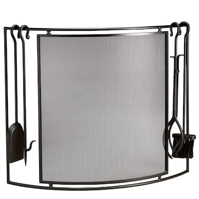Calfire Laura Fire Screen - With Fire Tools