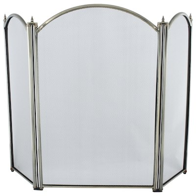 Calfire Regal 3 Fold Large Fire Screen