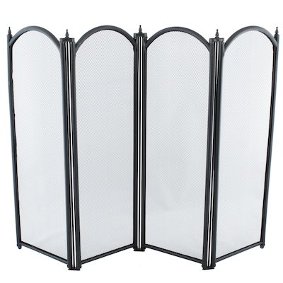 Calfire Regal 4 Fold Small Fire Screen