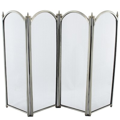 Calfire Regal 4 Fold Large Fire Screen