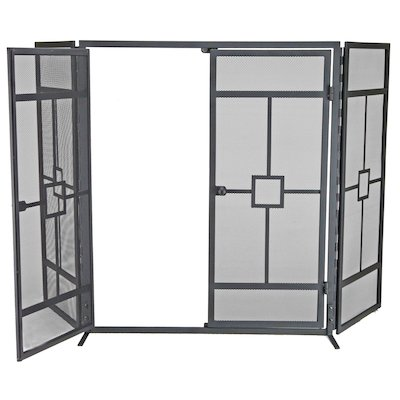 Manor Balmoral 3 Fold Fire Screen - With Doors