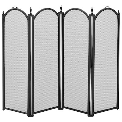 Manor Dynasty 4 Fold Small Fire Screen