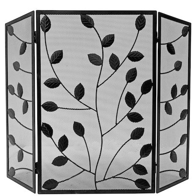 Manor Leaves 3 Fold Fire Screen