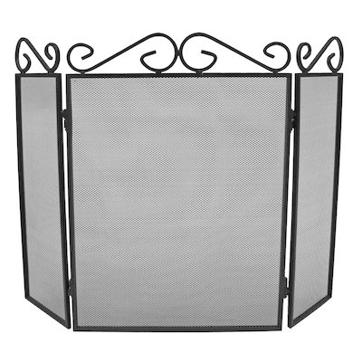 Manor Scroll Top 3 Fold Fire Screen