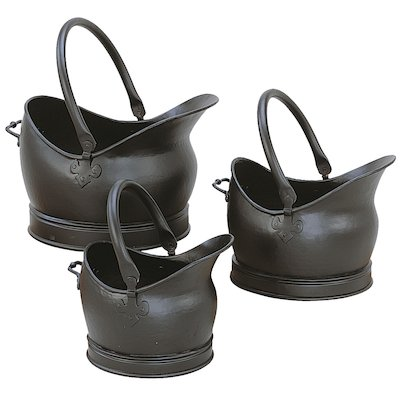 Manor Cathedral Coal Buckets - Set of 3