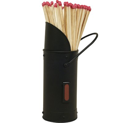 Calfire Coal Scuttle Match Holder - With Matches