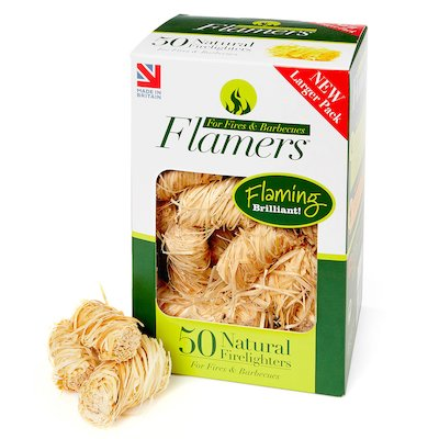 Certainly Wood Flamers Whisp Firelighters Wood Large