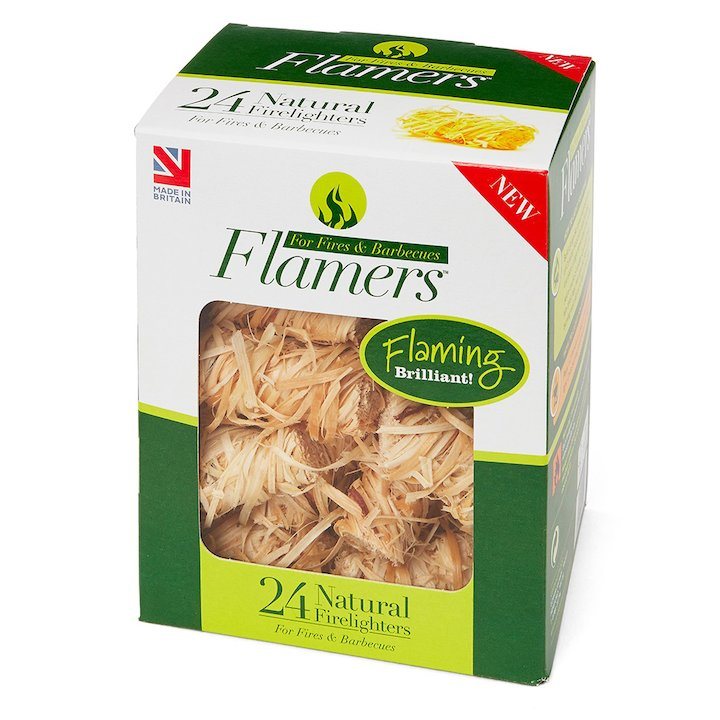 Certainly Wood Flamers Whisp Firelighters Wood Small - Wood