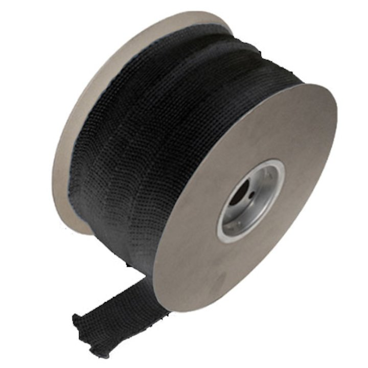 Fibreglass Insulation Tape 25mm - Sold per M - Black