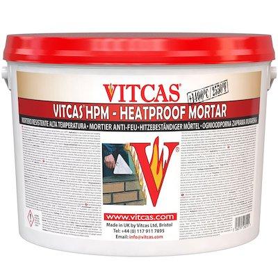 Vitcas Heat Resistant Mortar 10KG Tub
