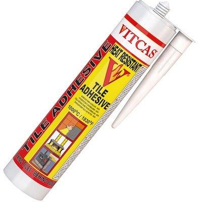 Vitcas Heat Resistant Tile Adhesive 310ml Cartridge