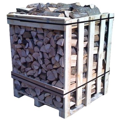 EVA Kiln Dried Hardwood Logs - 1m Cubic Crate