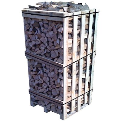 EVA Kiln Dried Hardwood Logs - 2m Cubic Crate