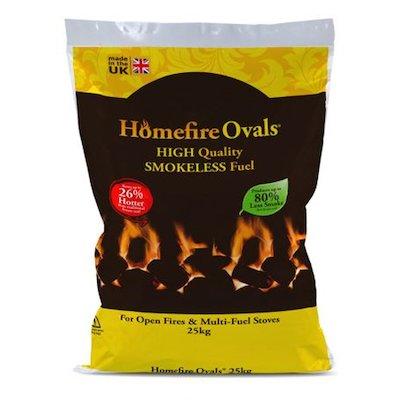 EVA Homefire Ovals Smokeless Coal Pallet - 50x 25KG Bags