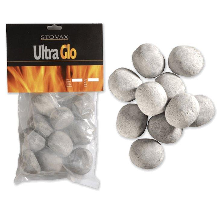 Stovax Ceramic Gas Pebbles Grey Small - Grey