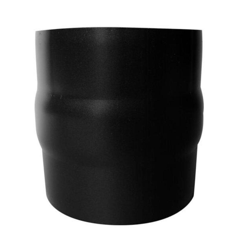 Evaflue Stove Pipe Male-Male Adaptor - Black Vitreous Enamel - Black