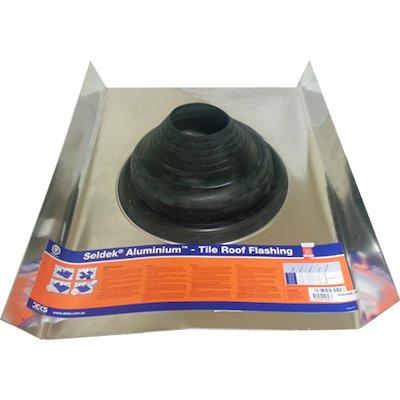 Seldek Aluminium Pitched Roof Black Rubber Flashing