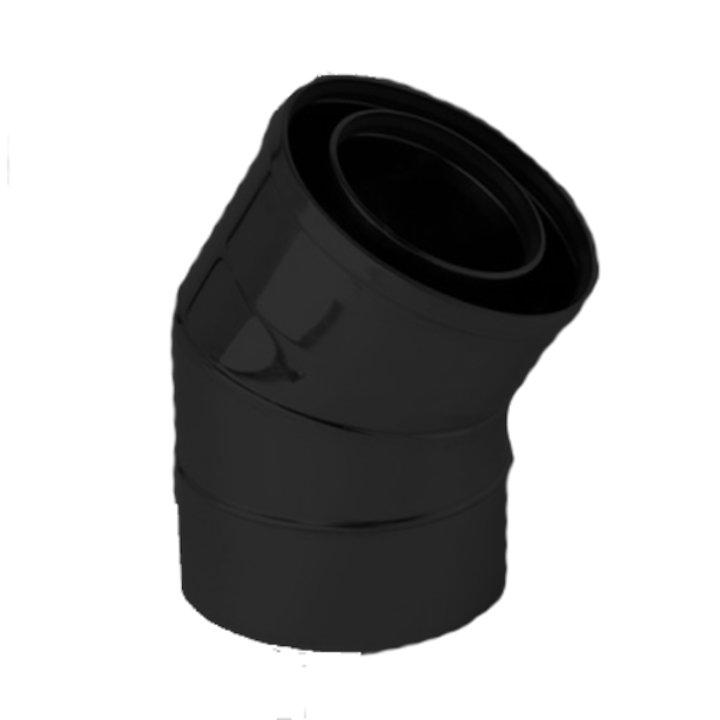 Gazco 30/150° Bend Balanced Flue Pipe - Anthracite