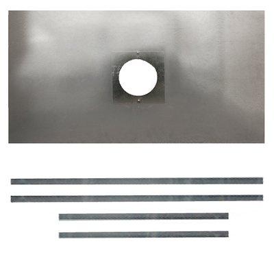 Premium Steel Register Plate 900x600 Silver Brackets with Hole Silver Trim