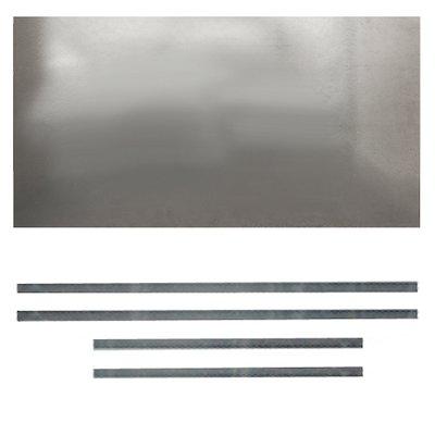 Premium Steel Register Plate 900x600 Silver Brackets Only Black Trim