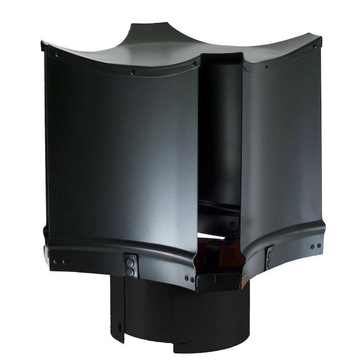 Brewer Aerodyne Chimney Cowl Black Sleeve Fix - Black