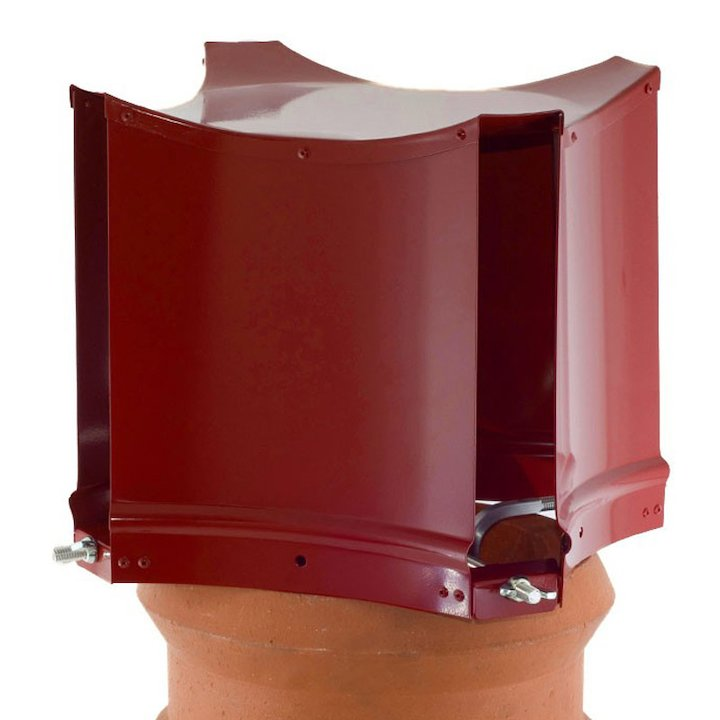 Brewer Aerodyne Chimney Cowl Terracotta Clamp Fix - Terracotta