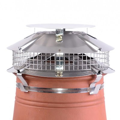 Brewer Ultimate Flue Cowl Silver Strap Fix