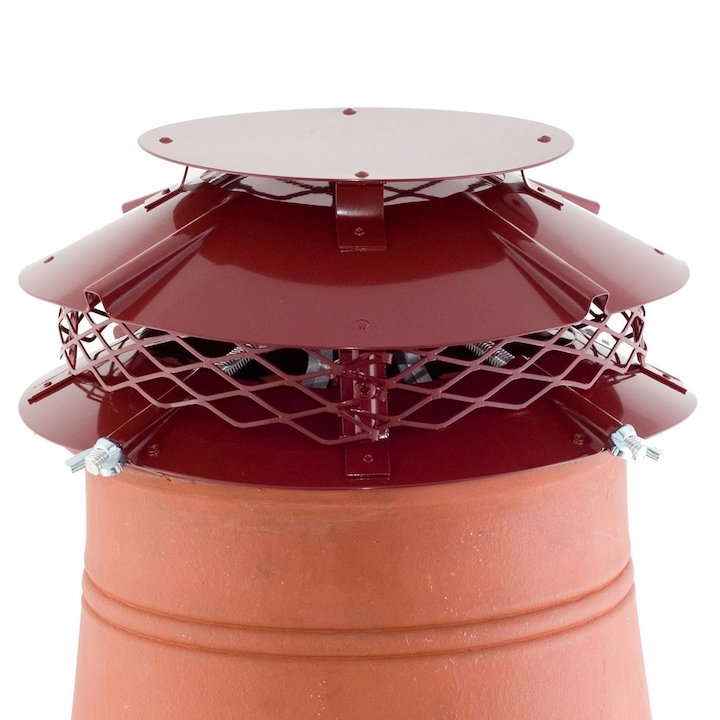 Brewer Ultimate Flue Cowl Terracotta Hook Fix - Terracotta