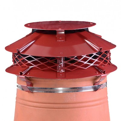 Brewer Ultimate Flue Cowl Terracotta Strap Fix