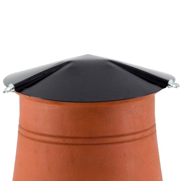 Brewer Chimney Pot Capper Black Hook Fix - Black