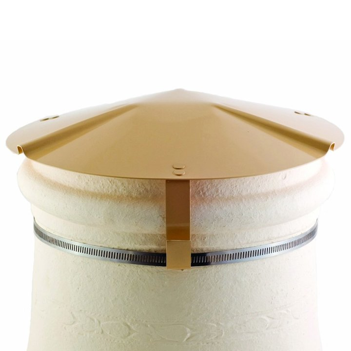 Brewer Chimney Pot Capper Buff Soapstone Top & Front - Buff