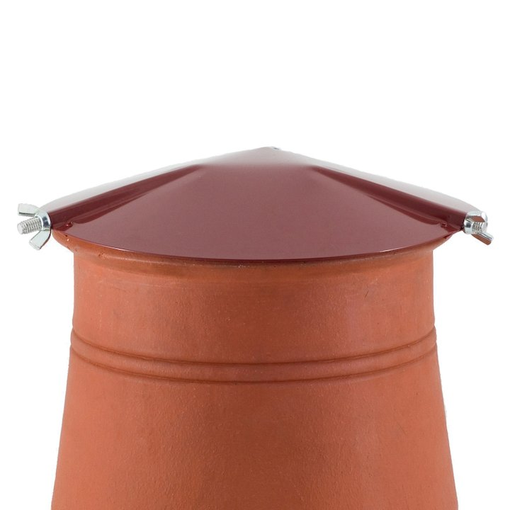 Brewer Chimney Pot Capper Terracotta Hook Fix - Terracotta